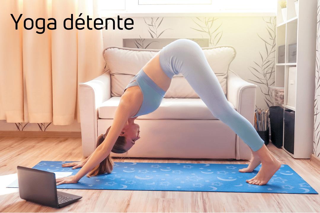 Yoga détente en ligne.